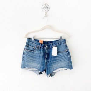 levi's 501 stud trim cutoff shorts